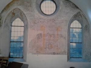 Fügen Pfarrkirche frühgot. Fresken Empore